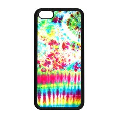 Pattern Decorated Schoolbus Tie Dye Apple Iphone 5c Seamless Case (black)