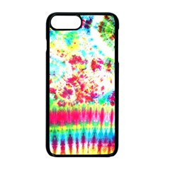 Pattern Decorated Schoolbus Tie Dye Apple Iphone 7 Plus Seamless Case (black) by Amaryn4rt
