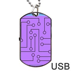 Peripherals Dog Tag Usb Flash (one Side)