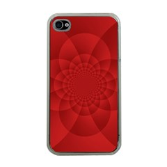 Psychedelic Art Red  Hi Tech Apple Iphone 4 Case (clear)