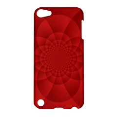 Psychedelic Art Red  Hi Tech Apple Ipod Touch 5 Hardshell Case by Amaryn4rt