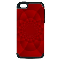 Psychedelic Art Red  Hi Tech Apple Iphone 5 Hardshell Case (pc+silicone) by Amaryn4rt