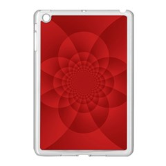 Psychedelic Art Red  Hi Tech Apple Ipad Mini Case (white) by Amaryn4rt