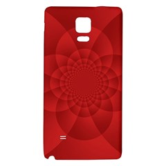 Psychedelic Art Red  Hi Tech Galaxy Note 4 Back Case by Amaryn4rt