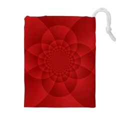 Psychedelic Art Red  Hi Tech Drawstring Pouches (extra Large) by Amaryn4rt