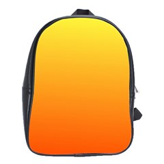 Rainbow Yellow Orange Background School Bags(large)  by Amaryn4rt