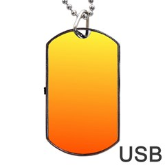 Rainbow Yellow Orange Background Dog Tag Usb Flash (two Sides) by Amaryn4rt