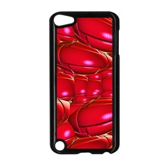Red Abstract Cherry Balls Pattern Apple Ipod Touch 5 Case (black) by Amaryn4rt