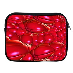 Red Abstract Cherry Balls Pattern Apple Ipad 2/3/4 Zipper Cases