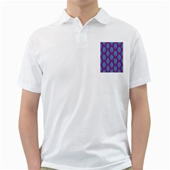 Red Blue Bee Hive Golf Shirts