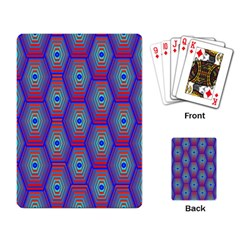 Red Blue Bee Hive Playing Card by Amaryn4rt
