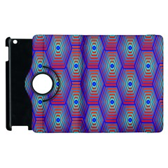 Red Blue Bee Hive Apple Ipad 3/4 Flip 360 Case by Amaryn4rt