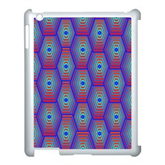 Red Blue Bee Hive Apple Ipad 3/4 Case (white) by Amaryn4rt