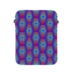 Red Blue Bee Hive Apple Ipad 2/3/4 Protective Soft Cases