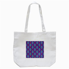 Red Blue Bee Hive Tote Bag (white)