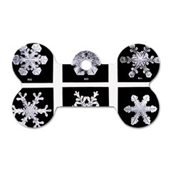 Snowflakes Exemplifies Emergence In A Physical System Dog Tag Bone (one Side) by Amaryn4rt