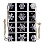 Snowflakes Exemplifies Emergence In A Physical System Drawstring Bag (Large) Back