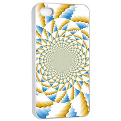 Tech Neon And Glow Backgrounds Psychedelic Art Psychedelic Art Apple Iphone 4/4s Seamless Case (white) by Amaryn4rt
