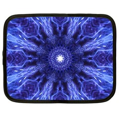 Tech Neon And Glow Backgrounds Psychedelic Art Netbook Case (xxl)
