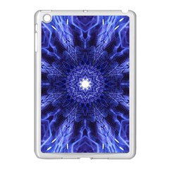 Tech Neon And Glow Backgrounds Psychedelic Art Apple Ipad Mini Case (white) by Amaryn4rt