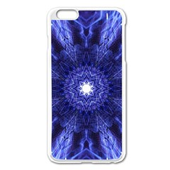 Tech Neon And Glow Backgrounds Psychedelic Art Apple Iphone 6 Plus/6s Plus Enamel White Case by Amaryn4rt