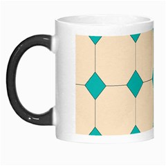 Tile Pattern Wallpaper Background Morph Mugs by Amaryn4rt
