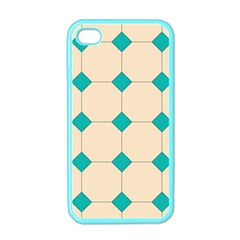 Tile Pattern Wallpaper Background Apple Iphone 4 Case (color) by Amaryn4rt