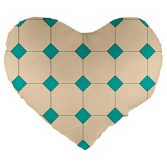 Tile Pattern Wallpaper Background Large 19  Premium Flano Heart Shape Cushions by Amaryn4rt