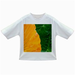 Wet Yellow And Green Leaves Abstract Pattern Infant/toddler T Shirts by Amaryn4rt
