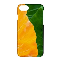 Wet Yellow And Green Leaves Abstract Pattern Apple Iphone 7 Hardshell Case by Amaryn4rt