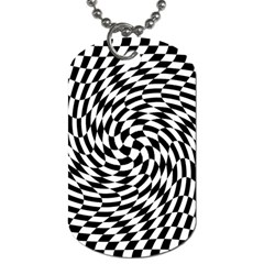 Whirl Dog Tag (one Side) by Amaryn4rt