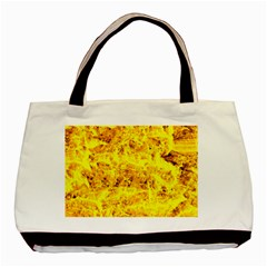 Yellow Abstract Background Basic Tote Bag (two Sides)