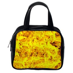 Yellow Abstract Background Classic Handbags (one Side) by Amaryn4rt