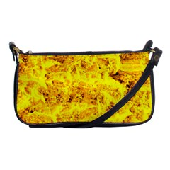 Yellow Abstract Background Shoulder Clutch Bags by Amaryn4rt
