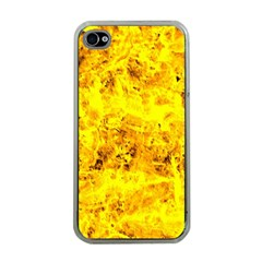 Yellow Abstract Background Apple Iphone 4 Case (clear)