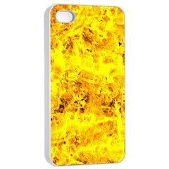 Yellow Abstract Background Apple Iphone 4/4s Seamless Case (white)