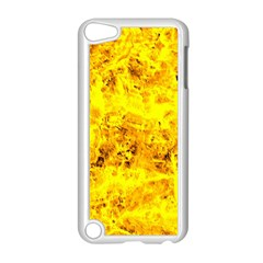 Yellow Abstract Background Apple Ipod Touch 5 Case (white) by Amaryn4rt