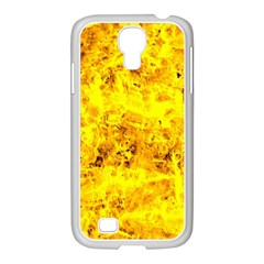 Yellow Abstract Background Samsung Galaxy S4 I9500/ I9505 Case (white) by Amaryn4rt