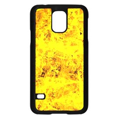 Yellow Abstract Background Samsung Galaxy S5 Case (black)