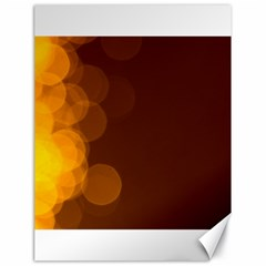 Yellow And Orange Blurred Lights Orange Gerberas Yellow Bokeh Background Canvas 18  X 24