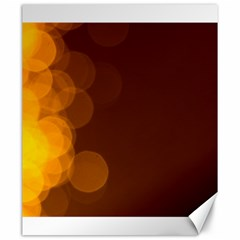 Yellow And Orange Blurred Lights Orange Gerberas Yellow Bokeh Background Canvas 20  X 24