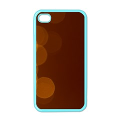 Yellow And Orange Blurred Lights Orange Gerberas Yellow Bokeh Background Apple Iphone 4 Case (color)