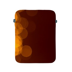 Yellow And Orange Blurred Lights Orange Gerberas Yellow Bokeh Background Apple Ipad 2/3/4 Protective Soft Cases