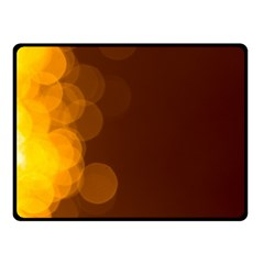 Yellow And Orange Blurred Lights Orange Gerberas Yellow Bokeh Background Double Sided Fleece Blanket (small)  by Amaryn4rt