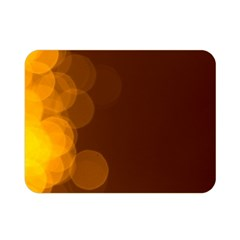 Yellow And Orange Blurred Lights Orange Gerberas Yellow Bokeh Background Double Sided Flano Blanket (mini)