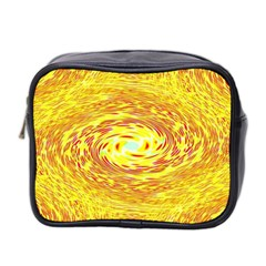 Yellow Seamless Psychedelic Pattern Mini Toiletries Bag 2 Side