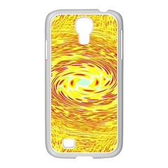 Yellow Seamless Psychedelic Pattern Samsung Galaxy S4 I9500/ I9505 Case (white) by Amaryn4rt
