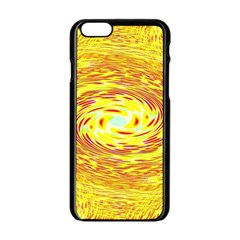 Yellow Seamless Psychedelic Pattern Apple Iphone 6/6s Black Enamel Case by Amaryn4rt
