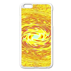 Yellow Seamless Psychedelic Pattern Apple Iphone 6 Plus/6s Plus Enamel White Case by Amaryn4rt