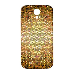 Yellow And Black Stained Glass Effect Samsung Galaxy S4 I9500/i9505  Hardshell Back Case